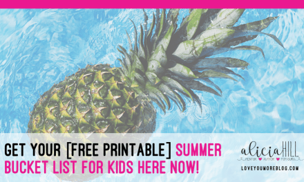 Get Your Printable Summer Bucket List for Kids Here!