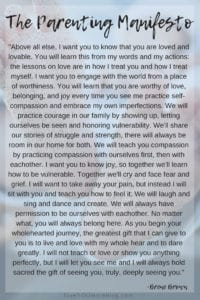 The Parenting Manifesto by Brene Brown