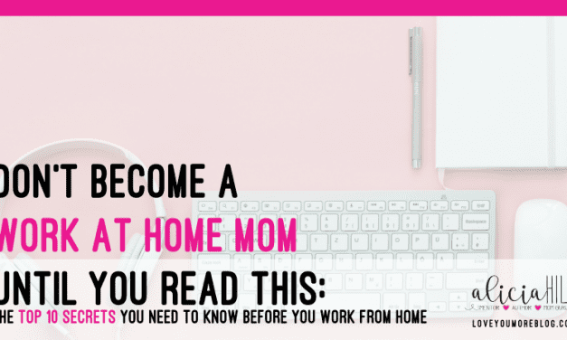 Don't Become A Work at Home Mom Until You Read This
